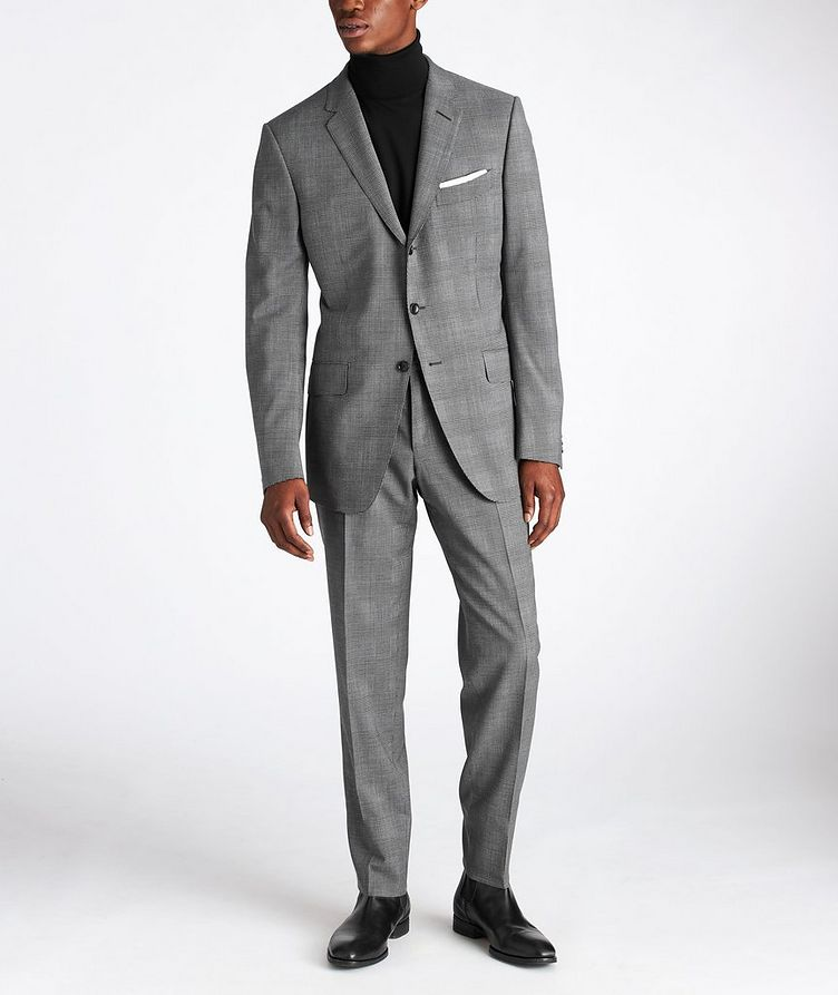 O'Connor Glen-Checked Stretch-Wool Suit image 1
