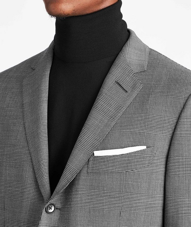 O'Connor Glen-Checked Stretch-Wool Suit image 3