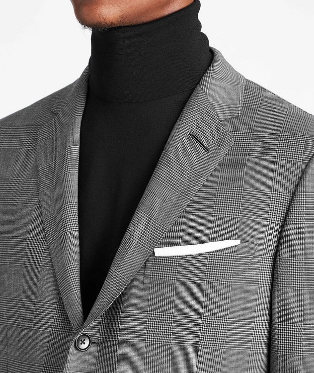 O'Connor Glen-Checked Stretch-Wool Suit picture 4