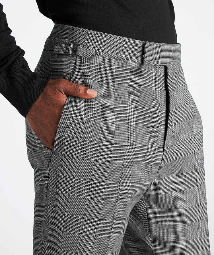 O'Connor Glen-Checked Stretch-Wool Suit image 4