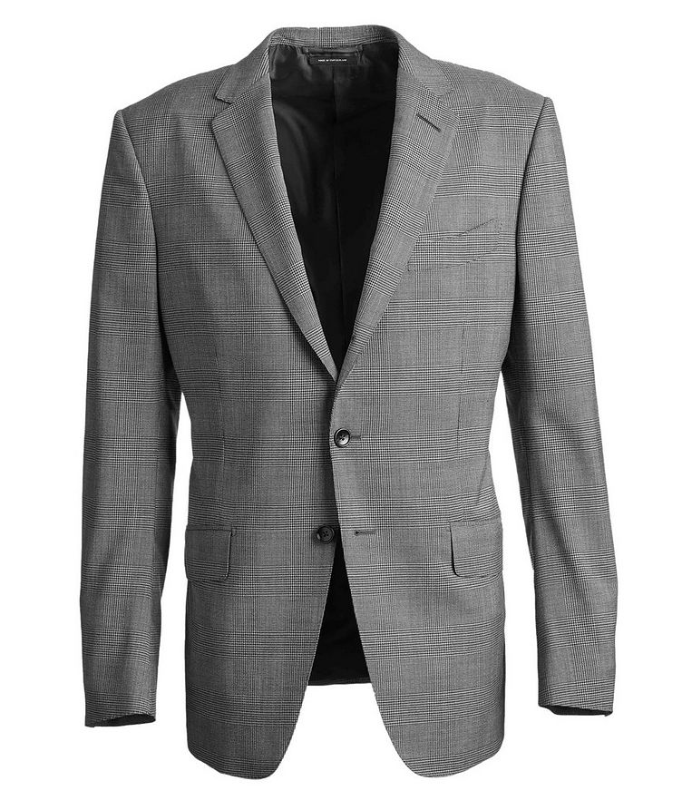 O'Connor Glen-Checked Stretch-Wool Suit image 0