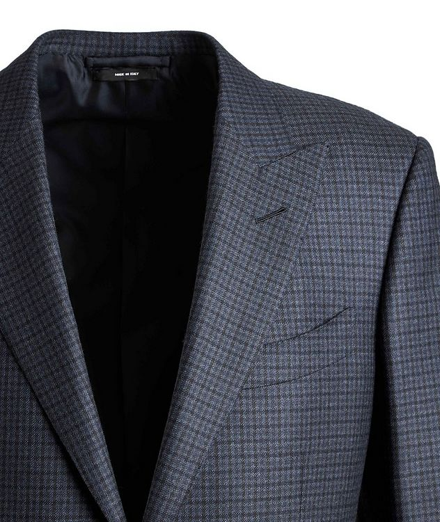 O'Connor Checked Wool Suit picture 3