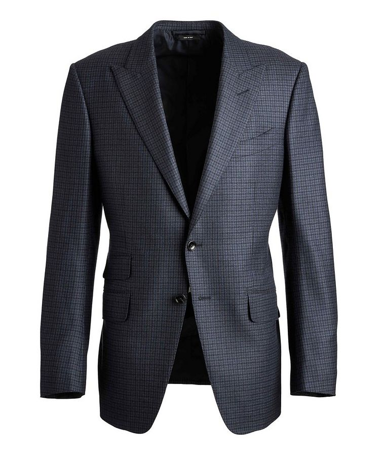 O'Connor Checked Wool Suit image 0