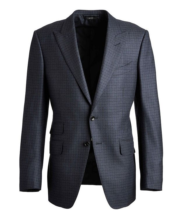 O'Connor Checked Wool Suit picture 1