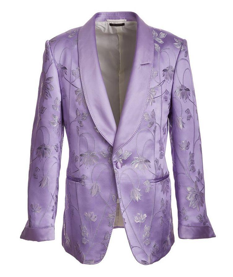 Floral Embroidered Tuxedo Jacket image 0