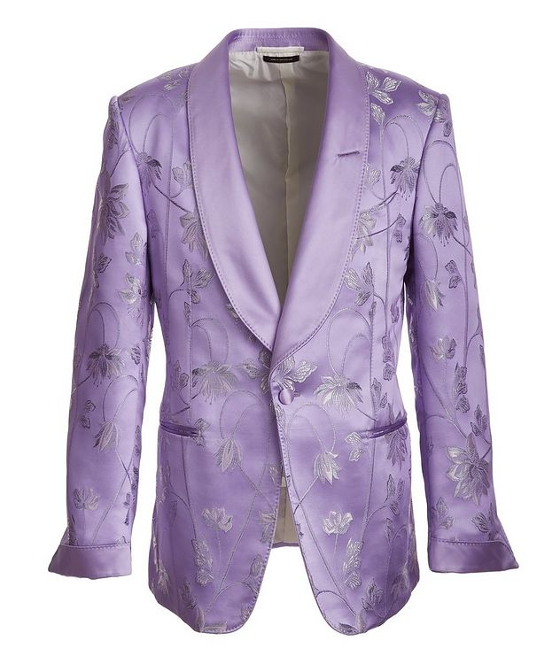 Floral Embroidered Tuxedo Jacket picture 1