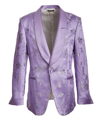 TOM FORD Floral Embroidered Tuxedo Jacket