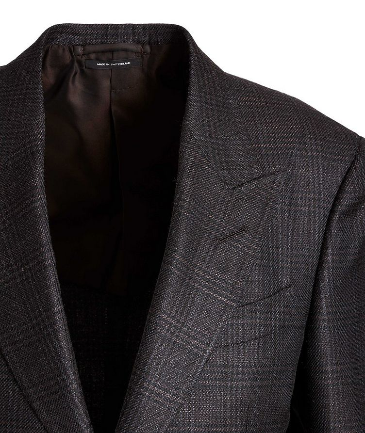 Shelton Checked Wool, Mohair, and Silk Sports Jacket image 2