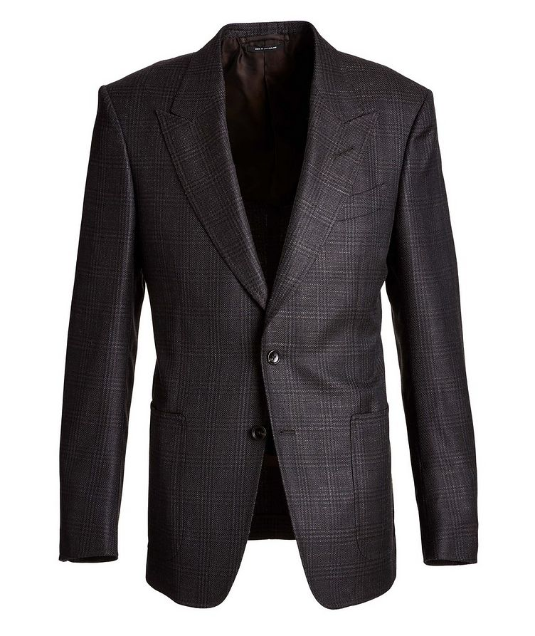 Shelton Checked Wool, Mohair, and Silk Sports Jacket image 0