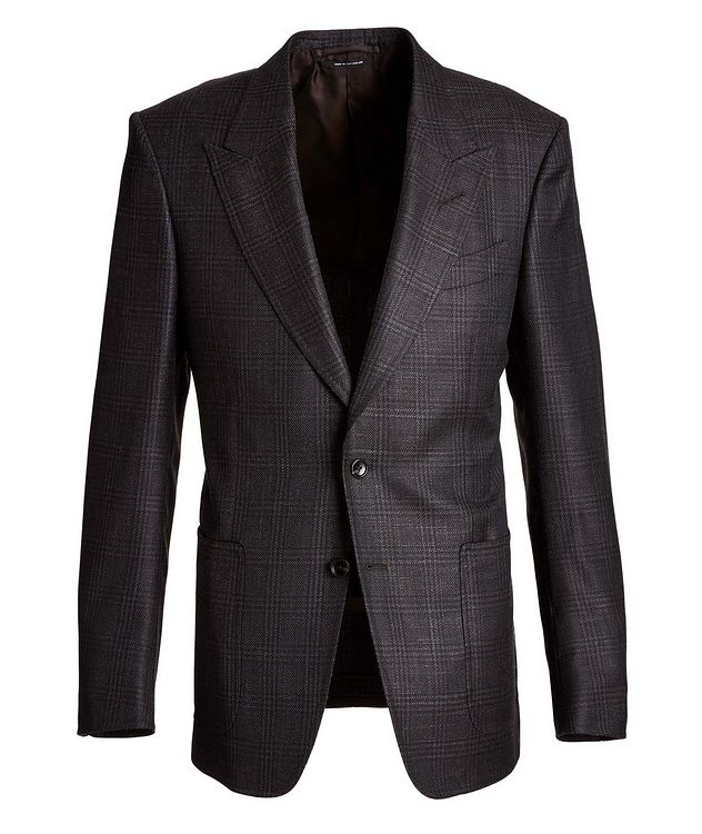 Shelton Checked Wool, Mohair, and Silk Sports Jacket picture 1