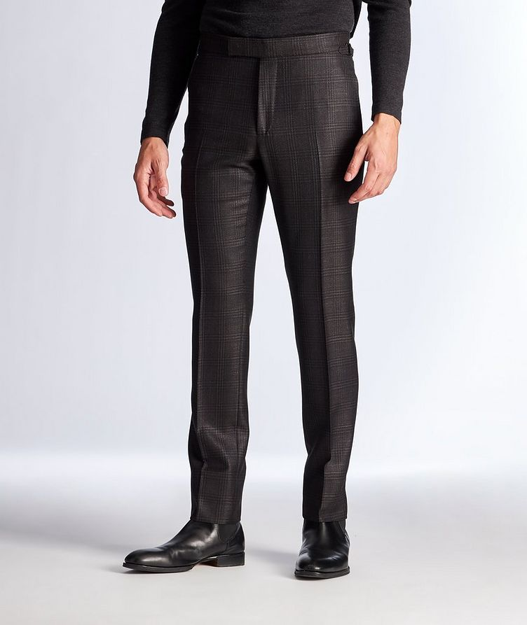 Slim Fit Wool, Mohair, and Silk Dress Pants image 0
