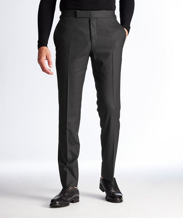 Slim Fit Wool Dress Pants picture 1