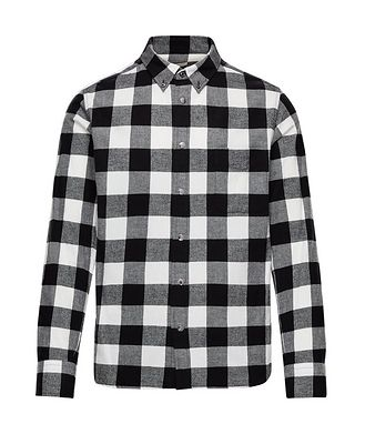 Moncler Buffalo-Checked Cotton Shirt