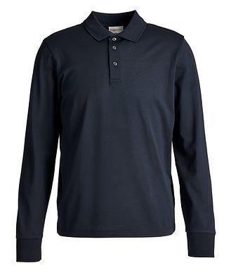 Moncler Long-Sleeve Cotton Piqué Polo