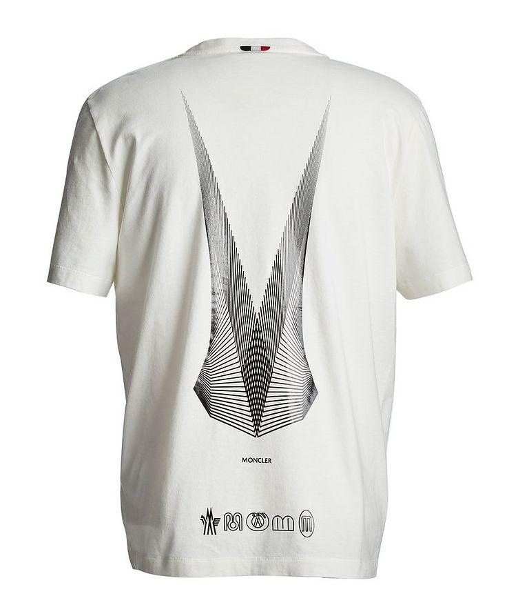 T-shirt en coton à motif géométrique image 1