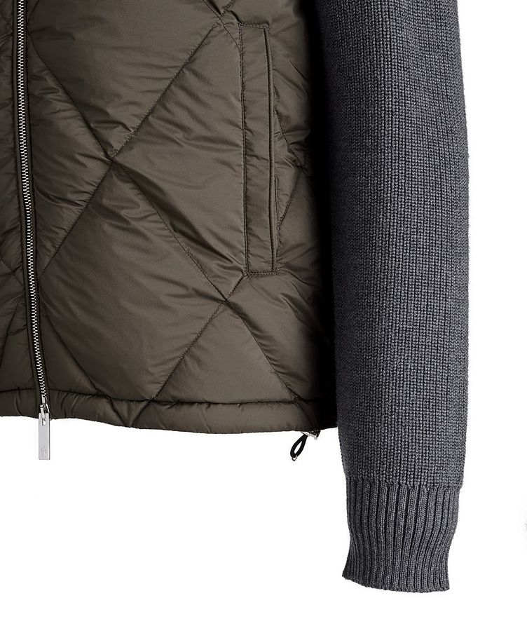Hooded Quilted Down Cardigan image 3