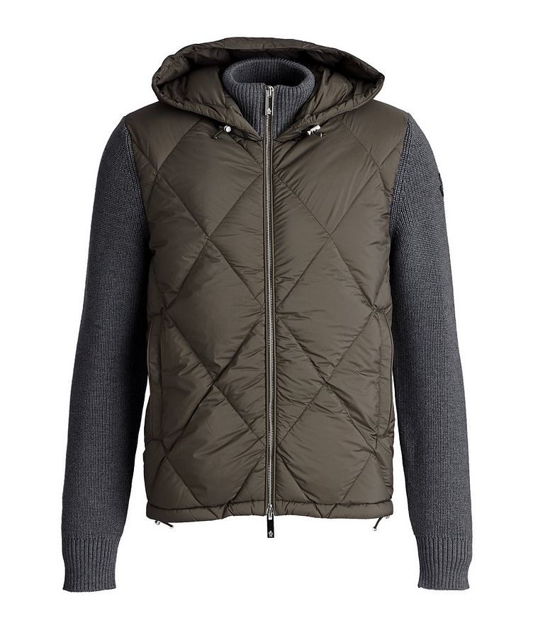 Hooded Quilted Down Cardigan image 0