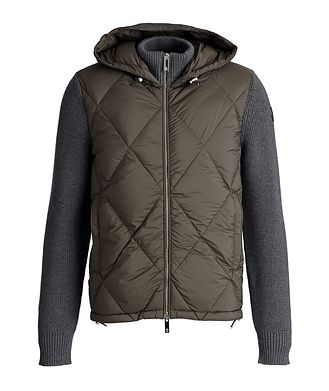 Moncler Hooded Quilted Down Cardigan
