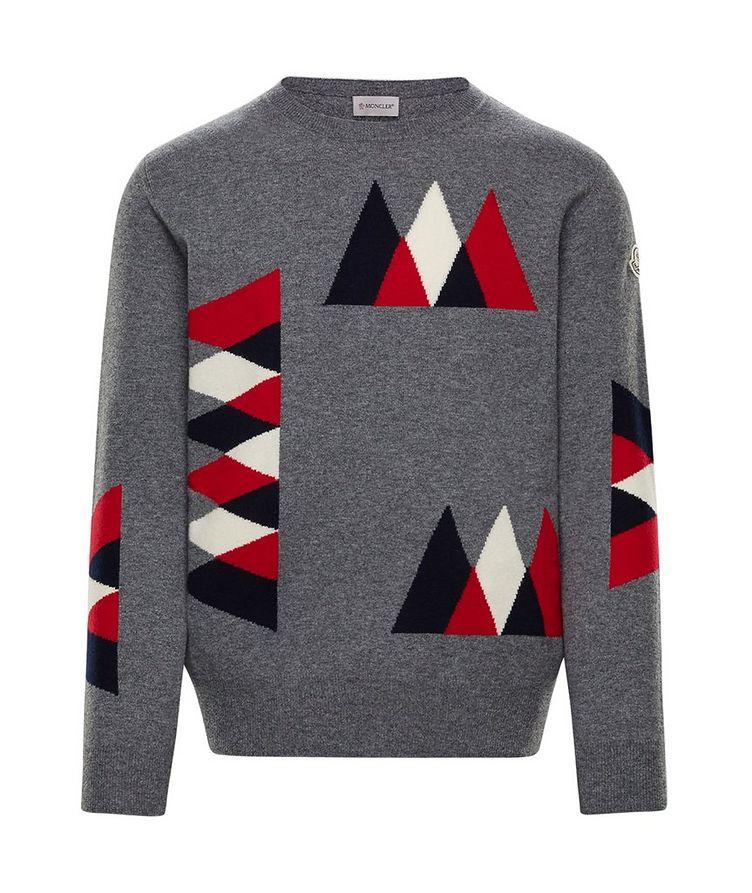 Pull en tricot intarsia de laine et cachemire image 0