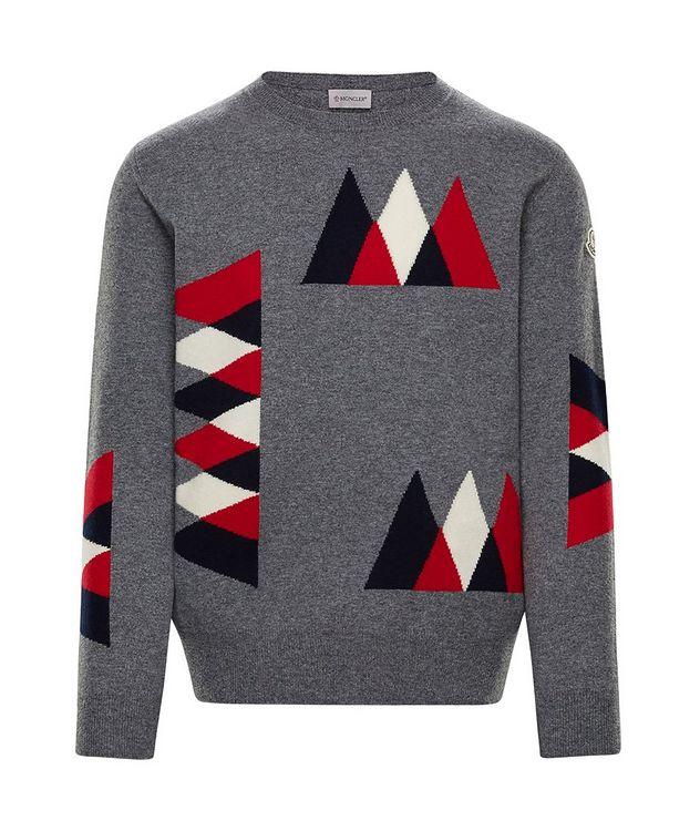 Pull en tricot intarsia de laine et cachemire picture 1