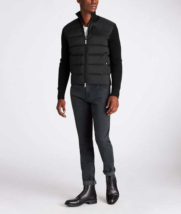 Zip-Up Down Cardigan  picture 5