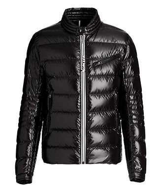 Moncler Caroux Quilted Down Moto Jacket