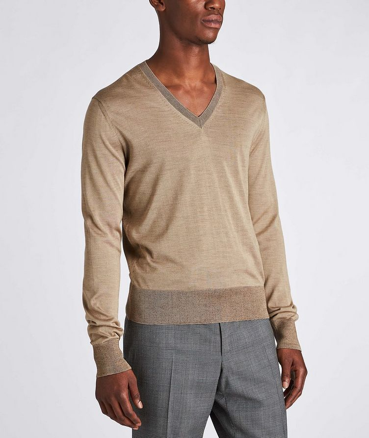 V-Neck Silk Sweater image 1