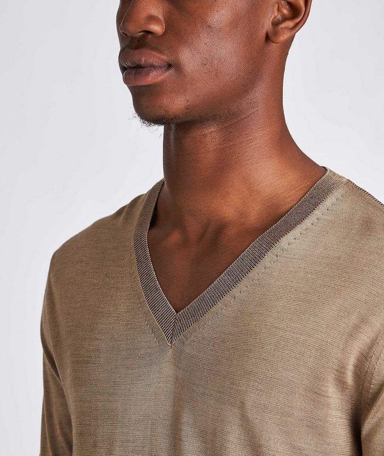 V-Neck Silk Sweater image 3