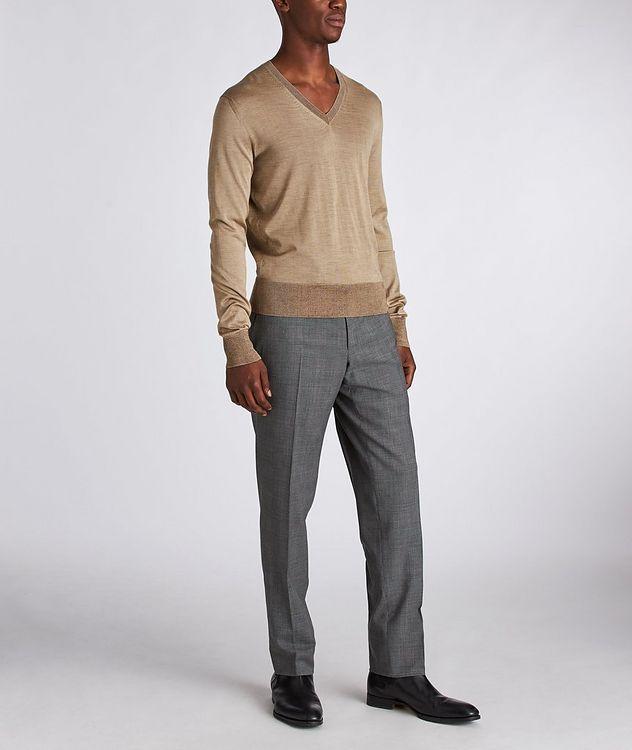 V-Neck Silk Sweater picture 5
