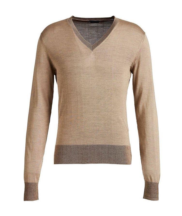 V-Neck Silk Sweater image 0