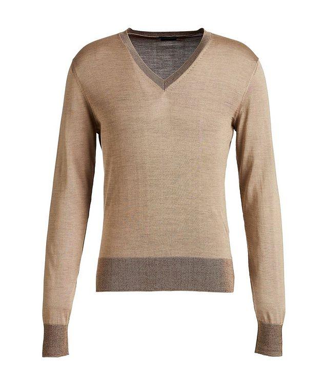 V-Neck Silk Sweater picture 1