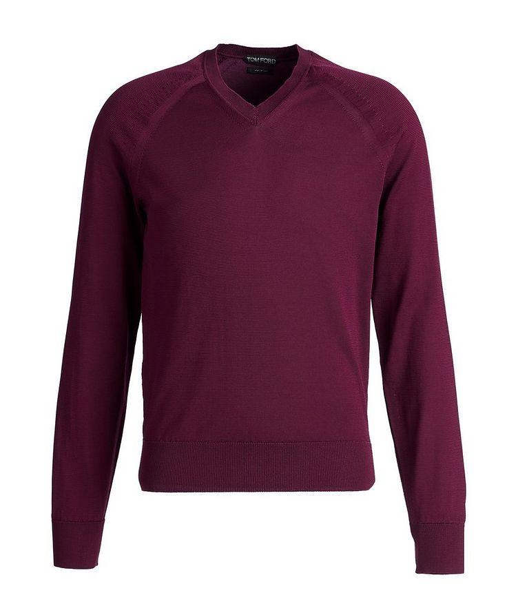 V-Neck Silk-Blend Sweater image 0