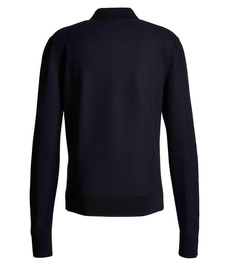 Long-Sleeve Silk-Cashmere Polo image 1