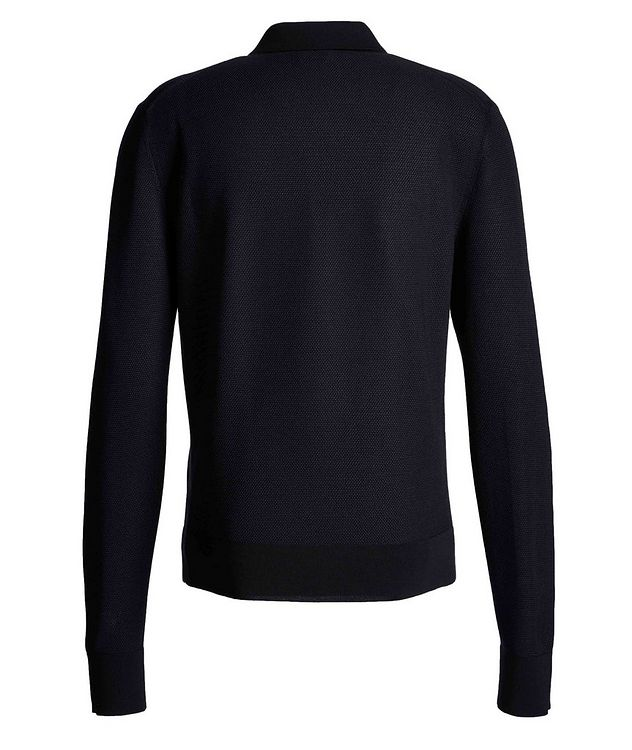 Long-Sleeve Silk-Cashmere Polo picture 2