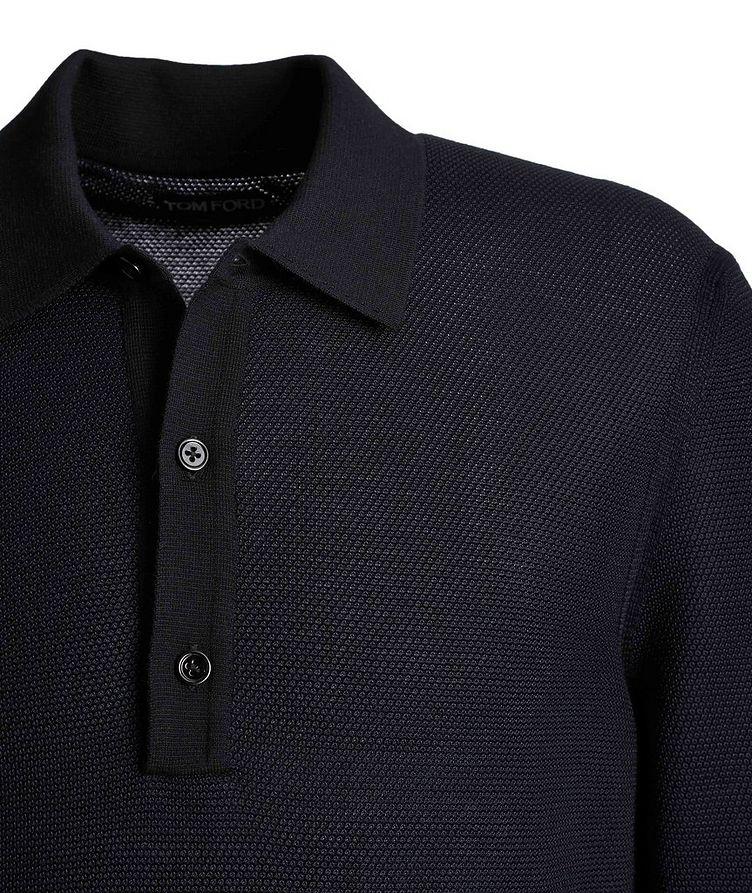 Long-Sleeve Silk-Cashmere Polo image 2