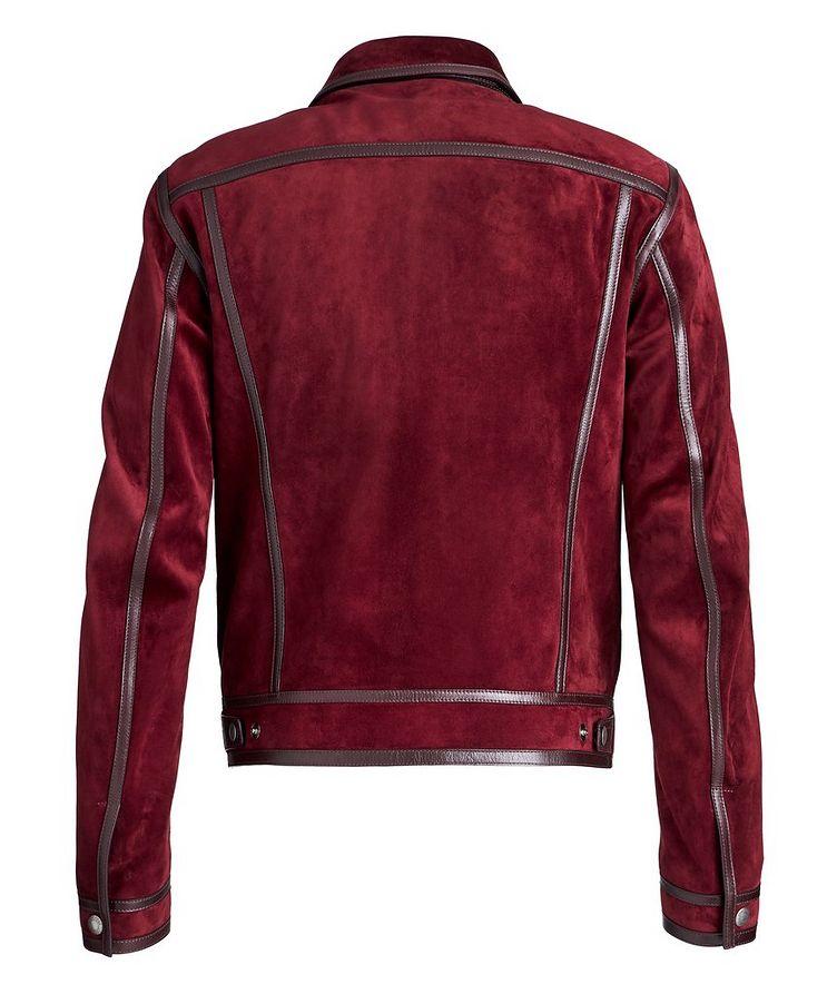 Leather-Trimmed Suede Jacket image 1