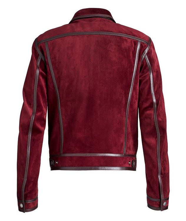 Leather-Trimmed Suede Jacket picture 2