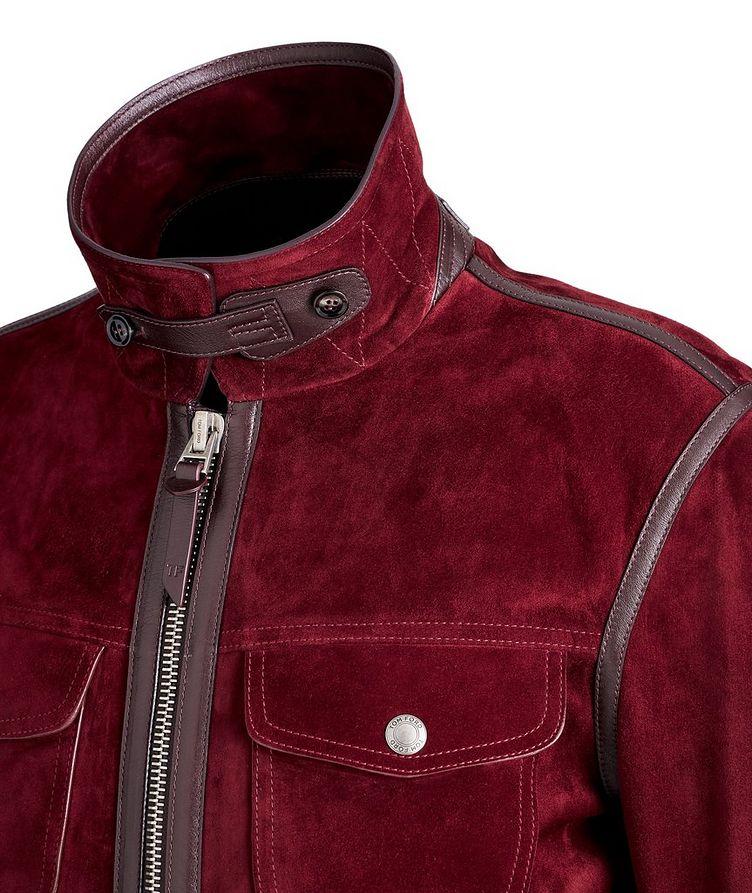 Leather-Trimmed Suede Jacket image 2