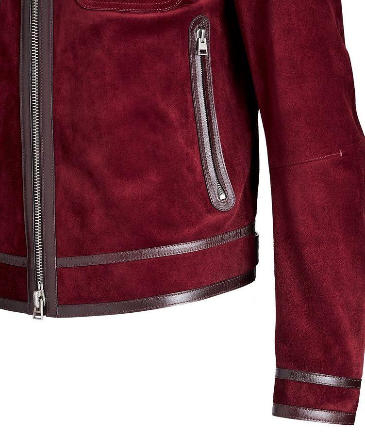 Leather-Trimmed Suede Jacket image 3