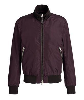 TOM FORD Water-Repellent Silk Bomber Jacket
