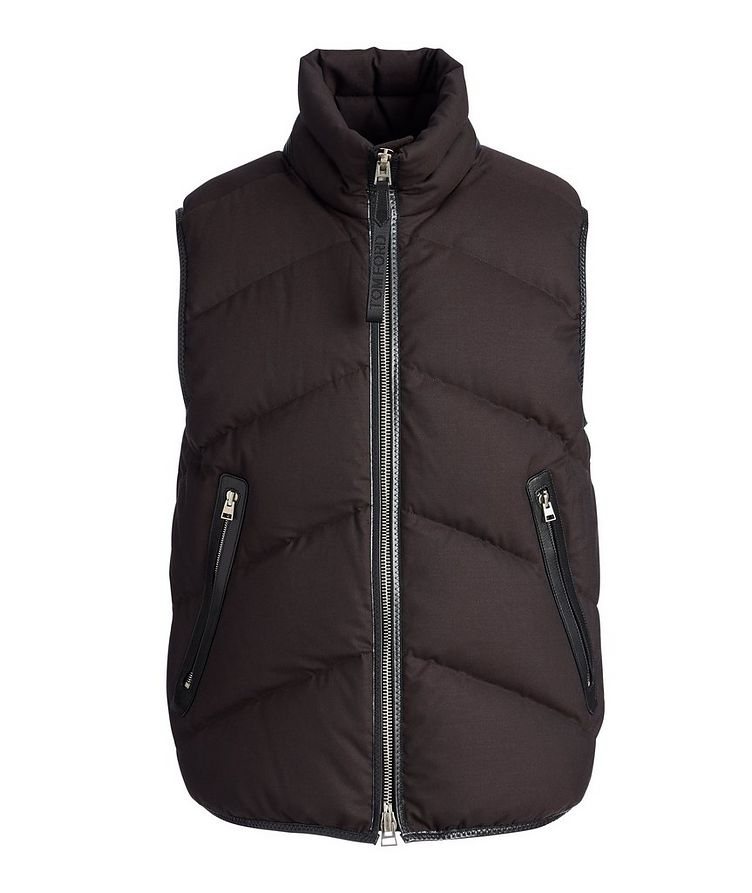 Quilted Down-Filled Wool Vest image 0
