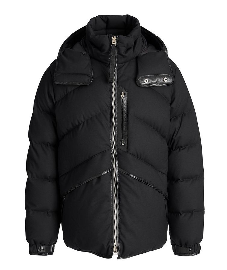 Quilted Stretch-Wool Down Parka image 0