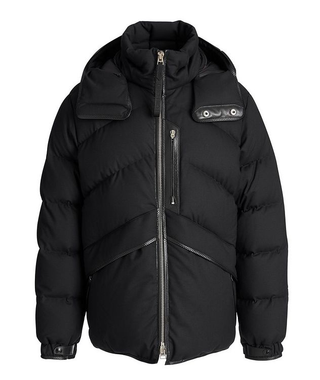 Quilted Stretch-Wool Down Parka picture 1