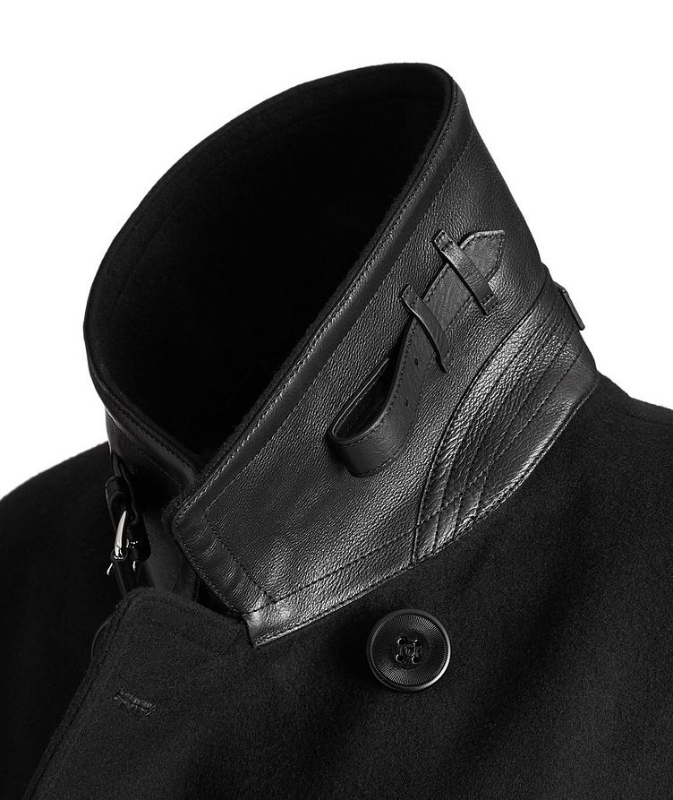 Double-Breasted Wool-Cashmere Peacoat image 2