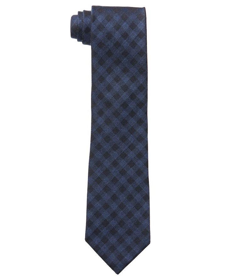 Gingham Silk-Cashmere Tie image 0