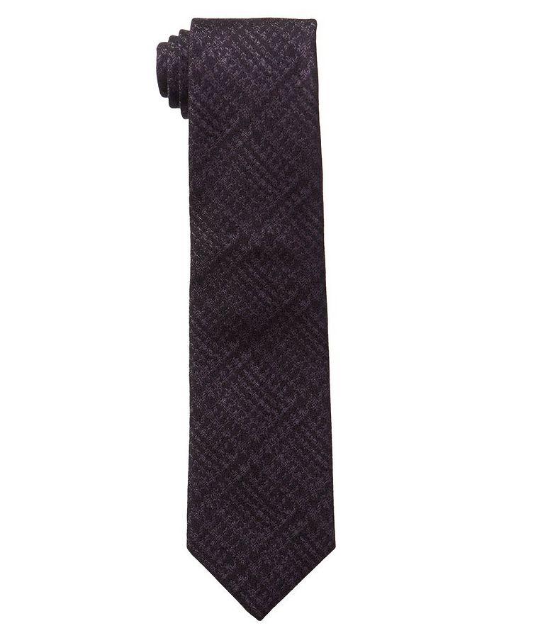 Checked Wool-Silk Tie image 0