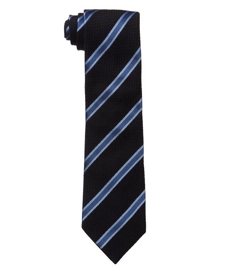 Striped Silk-Wool Tie image 0