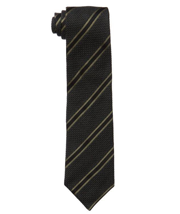 Cravate en soie et laine à rayures picture 1
