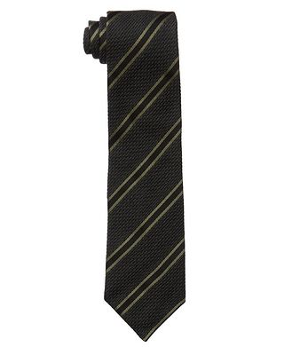 TOM FORD Striped Silk-Wool Tie