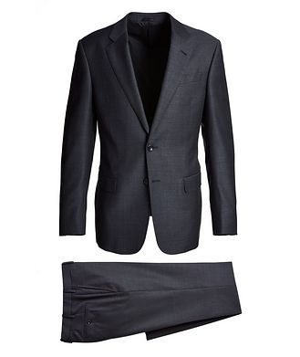 Giorgio Armani Soft Construction Bird's Eye Virgin Wool Suit
